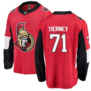 Men's Ottawa Senators Chris Tierney Fanatics Branded Breakaway Home Jersey - Red