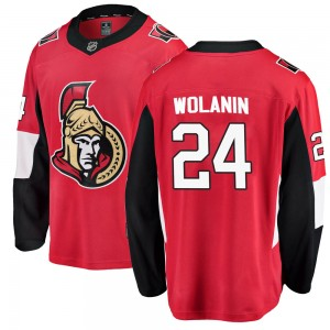 Men's Ottawa Senators Christian Wolanin Fanatics Branded Breakaway Home Jersey - Red