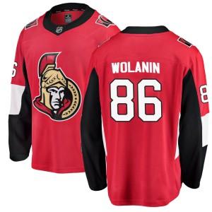 Men's Ottawa Senators Christian Wolanin Fanatics Branded ized Breakaway Home Jersey - Red