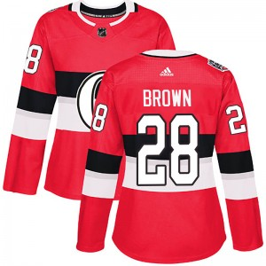Women's Ottawa Senators Connor Brown Adidas Authentic 2017 100 Classic Jersey - Red