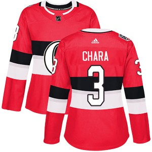 Women's Ottawa Senators Zdeno Chara Adidas Authentic 2017 100 Classic Jersey - Red
