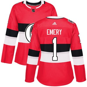 Women's Ottawa Senators Ray Emery Adidas Authentic 2017 100 Classic Jersey - Red