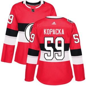 Women's Ottawa Senators Jack Kopacka Adidas Authentic 2017 100 Classic Jersey - Red