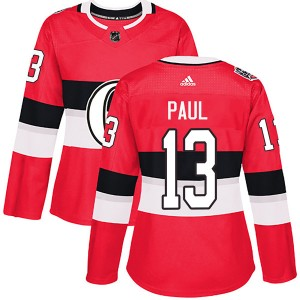 Women's Ottawa Senators Nick Paul Adidas Authentic 2017 100 Classic Jersey - Red