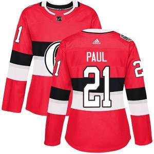 Women's Ottawa Senators Nick Paul Adidas Authentic 2017 100 Classic Jersey - Red
