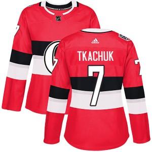 Women's Ottawa Senators Brady Tkachuk Adidas Authentic 2017 100 Classic Jersey - Red