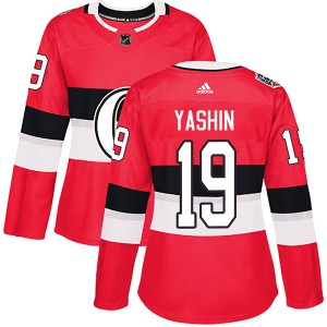 Women's Ottawa Senators Alexei Yashin Adidas Authentic 2017 100 Classic Jersey - Red