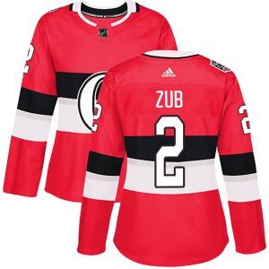 Women's Ottawa Senators Artem Zub Adidas Authentic 2017 100 Classic Jersey - Red