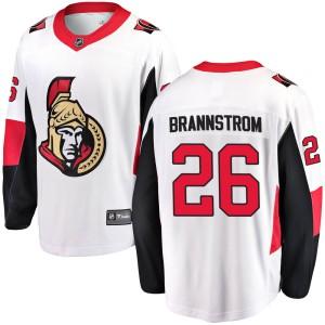 Men's Ottawa Senators Erik Brannstrom Fanatics Branded Breakaway Away Jersey - White