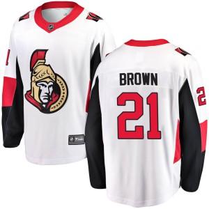 Men's Ottawa Senators Logan Brown Fanatics Branded Breakaway Away Jersey - White