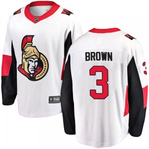 Men's Ottawa Senators Josh Brown Fanatics Branded Breakaway Away Jersey - White