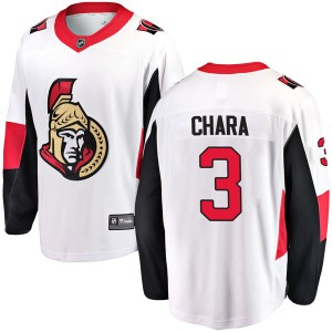 Men's Ottawa Senators Zdeno Chara Fanatics Branded Breakaway Away Jersey - White