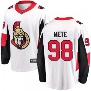 Men's Ottawa Senators Victor Mete Fanatics Branded Breakaway Away Jersey - White