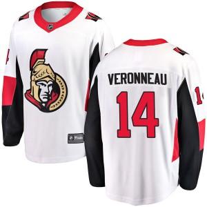Men's Ottawa Senators Max Veronneau Fanatics Branded Breakaway Away Jersey - White