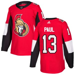 Men's Ottawa Senators Nick Paul Adidas Authentic Home Jersey - Red