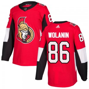 Men's Ottawa Senators Christian Wolanin Adidas Authentic ized Home Jersey - Red