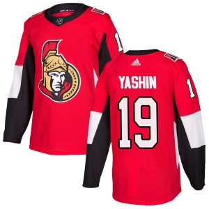 Men's Ottawa Senators Alexei Yashin Adidas Authentic Home Jersey - Red