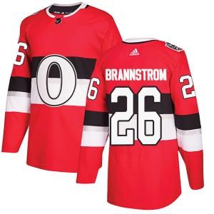Youth Ottawa Senators Erik Brannstrom Adidas Authentic 2017 100 Classic Jersey - Red
