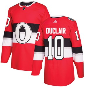 Youth Ottawa Senators Anthony Duclair Adidas Authentic 2017 100 Classic Jersey - Red
