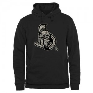 Men's Ottawa Senators Rink Warrior Pullover Hoodie - Black