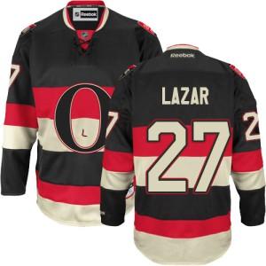 Men's Ottawa Senators Curtis Lazar Reebok Authentic New Third Jersey - Black