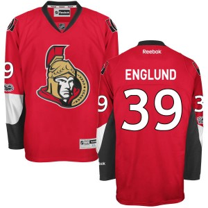 Men's Ottawa Senators Andreas Englund Reebok Premier Home Centennial Patch Jersey - Red