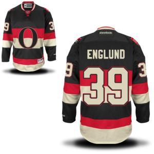 Men's Ottawa Senators Andreas Englund Reebok Authentic Alternate Jersey - - Black