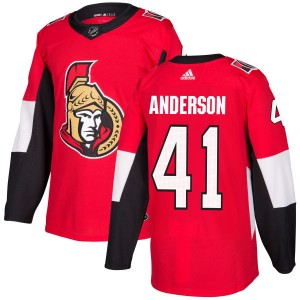Men's Ottawa Senators Craig Anderson Adidas Authentic Jersey - Red