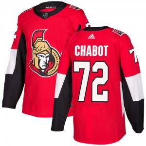 Youth Ottawa Senators Thomas Chabot Adidas Authentic Home Jersey - Red