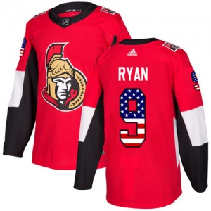 Men's Ottawa Senators Bobby Ryan Adidas Authentic USA Flag Fashion Jersey - Red