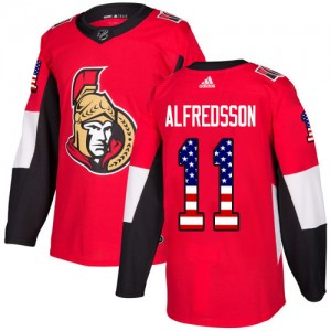 Youth Ottawa Senators Daniel Alfredsson Adidas Authentic USA Flag Fashion Jersey - Red