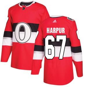 Men's Ottawa Senators Ben Harpur Adidas Authentic 2017 100 Classic Jersey - Red