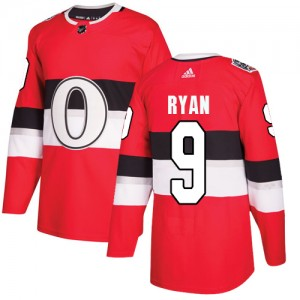 Men's Ottawa Senators Bobby Ryan Adidas Authentic 2017 100 Classic Jersey - Red