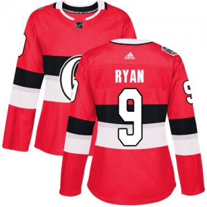 Women's Ottawa Senators Bobby Ryan Adidas Authentic 2017 100 Classic Jersey - Red