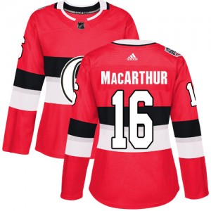 Women's Ottawa Senators Clarke MacArthur Adidas Authentic 2017 100 Classic Jersey - Red