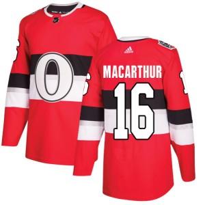 Youth Ottawa Senators Clarke MacArthur Adidas Authentic 2017 100 Classic Jersey - Red