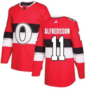Youth Ottawa Senators Daniel Alfredsson Adidas Authentic 2017 100 Classic Jersey - Red