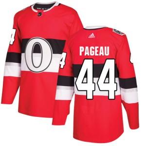 Men's Ottawa Senators Jean-Gabriel Pageau Adidas Authentic 2017 100 Classic Jersey - Red