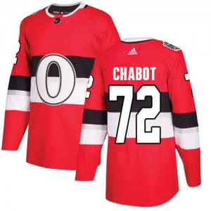 Men's Ottawa Senators Thomas Chabot Adidas Authentic 2017 100 Classic Jersey - Red