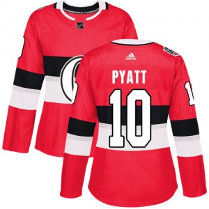 Women's Ottawa Senators Tom Pyatt Adidas Authentic 2017 100 Classic Jersey - Red