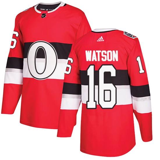 Men's Ottawa Senators Austin Watson Adidas Authentic 2017 100 Classic Jersey - Red