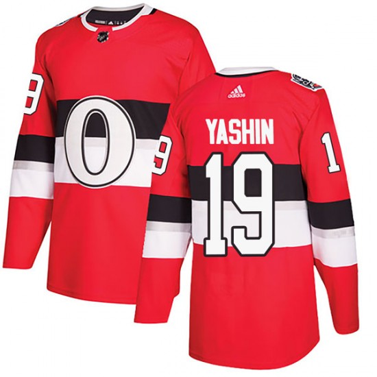 Men's Ottawa Senators Alexei Yashin Adidas Authentic 2017 100 Classic Jersey - Red