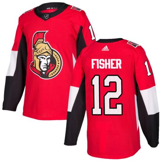 d9b288efa2d Men's Ottawa Senators Mike Fisher Adidas Authentic Home Jersey - Red