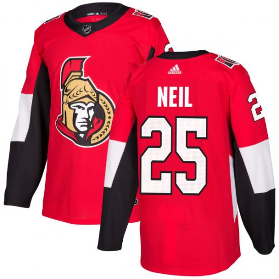 Men's Ottawa Senators Chris Neil Adidas Authentic Jersey - Red